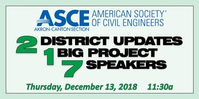 ASCE Akron-Canton Section December Luncheon