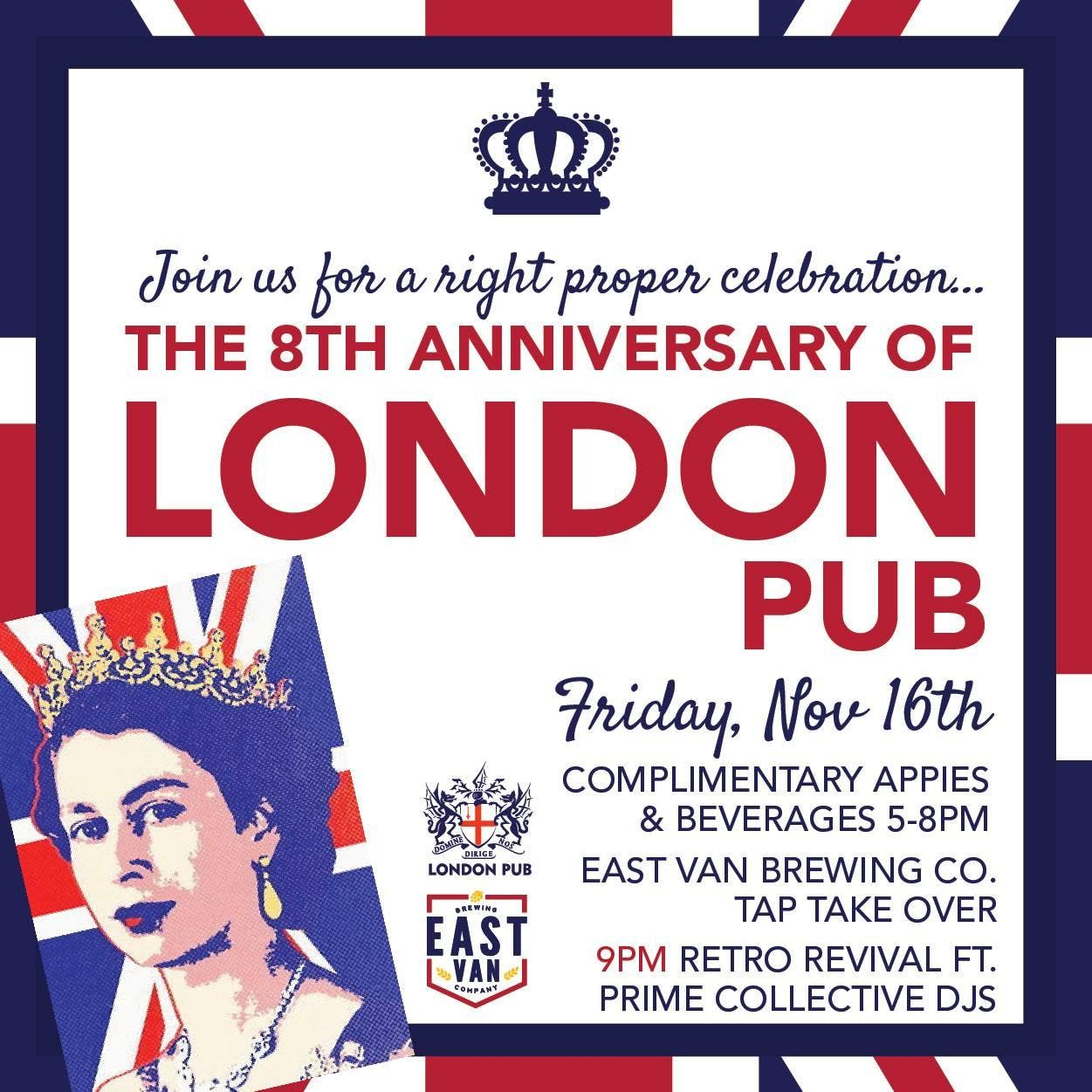 London Pub 8th Anniversary Party