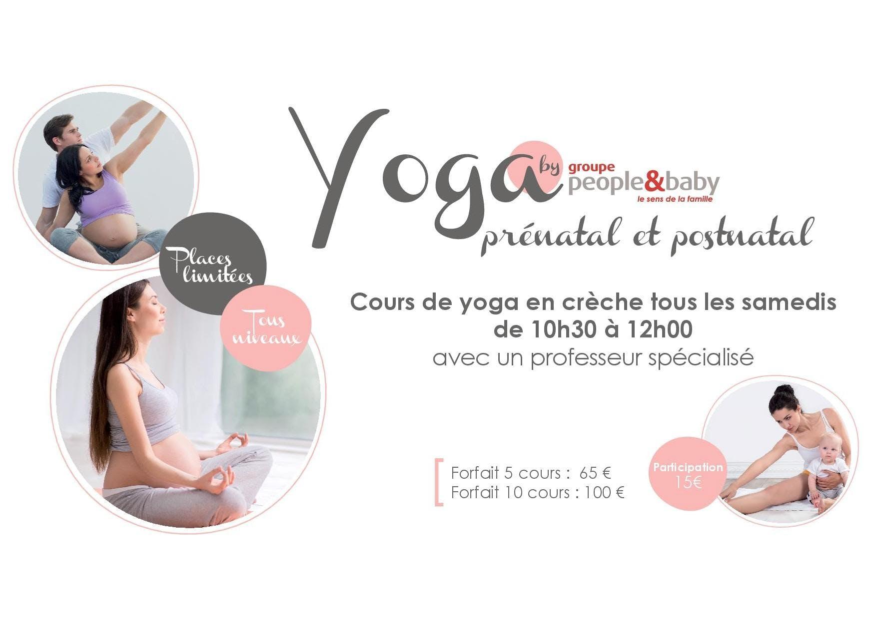 Cours de yoga en crèche - Champagne au Mont d