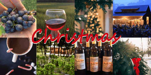 Live Christmas Music/Dinner at the Vineyard - w 3 flight tasting, smore's, souvenir wine glass, everything included!