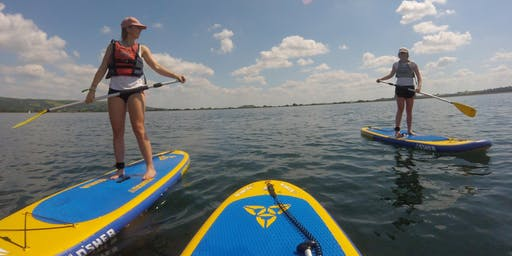 Sunday 18:00 - Two Hour Stand Up Paddleboard Sundowner Experience at Cheddar Reservoir