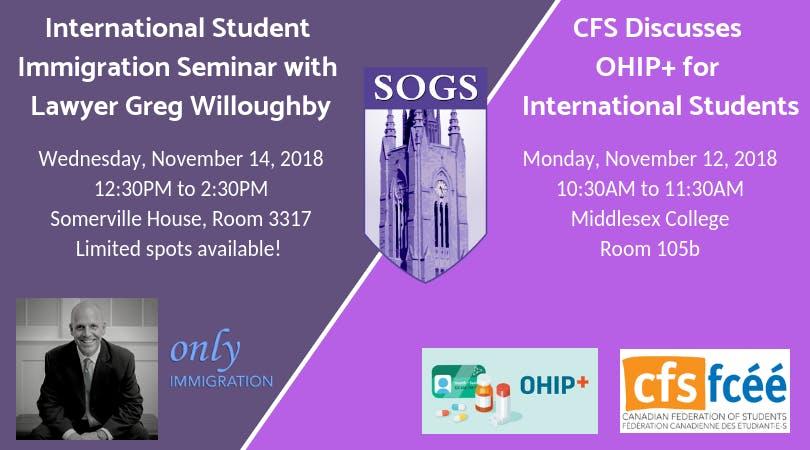 SOGS Immigration Seminar for International Gr