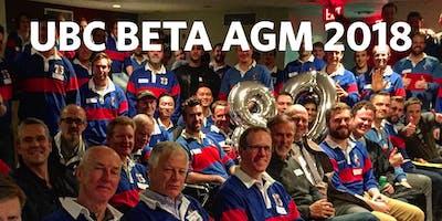 UBC Beta : AGM 2018