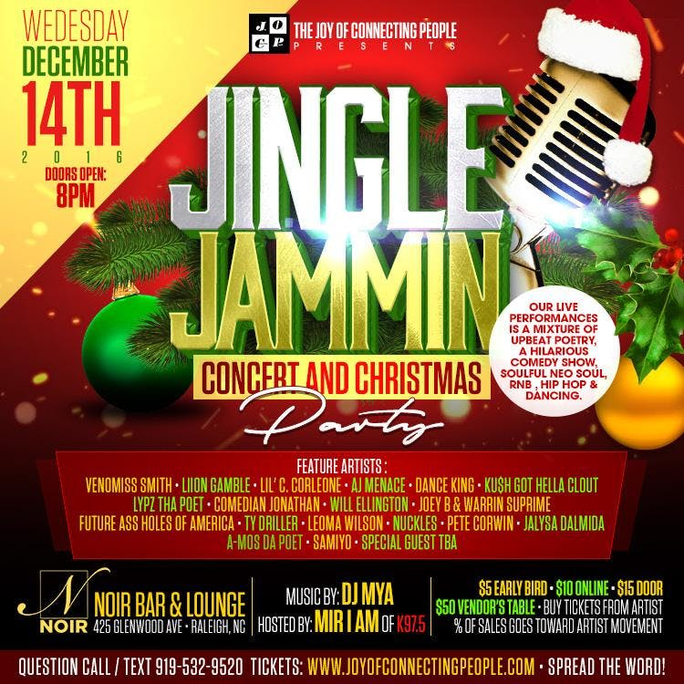 JINGLE JAMMIN CONCERT & CHRISTMAS PARTY at West Social Club