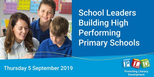 School leaders building high performing primary schools - September 2019 (Perth)