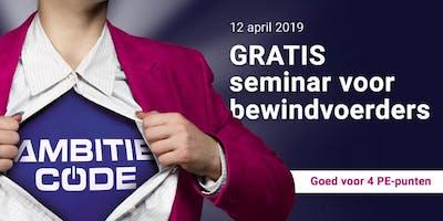 GRATIS seminar voor bewindvoerders: de AMBITIE CODE