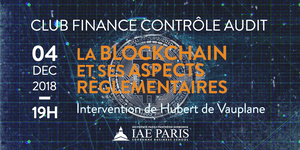 Conférence Club Finance-Contrôle Audit : La BLOCKCHAIN...