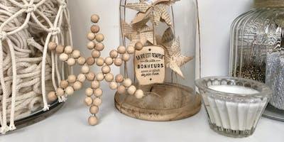 Atelier étoile en perles de bois (DIY décoration de Noël à suspendre ou poser)