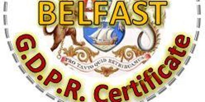 GDPR Practitioner Course - BELFAST, 5 days over 5 weeks