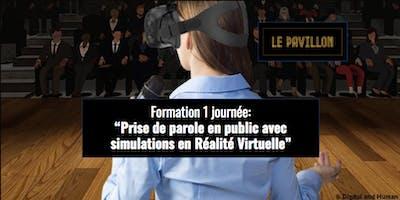 Formation à la prise de parole en public avec simulations en Réalité Virtuelle