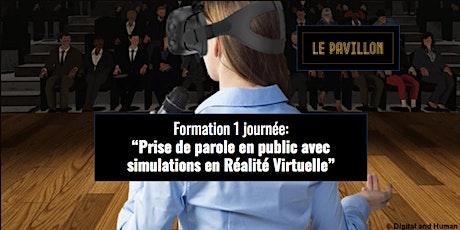 Formation à la prise de parole en public avec simulations en Réalité Virtuelle billets