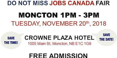 FREE: Moncton Job Fair – November 20th, 2018