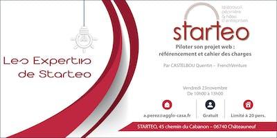 """Les EXPERTiiS de STARTEO: \""""Piloter son projet web : référencement et cahier des charges\"""""""