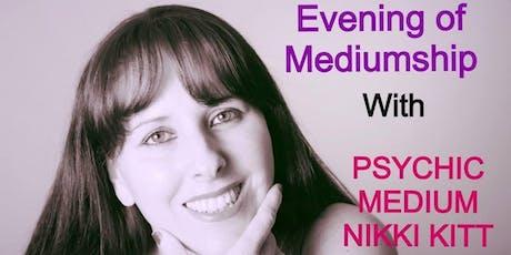 Evening of Mediumship with Nikki Kitt - Axminster tickets
