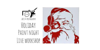 Holiday Paint Night Live Workshop