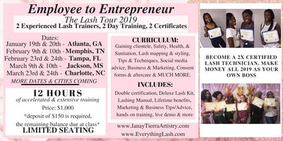 TWO DAY LASH CLASS - Employee to Entrepreneur