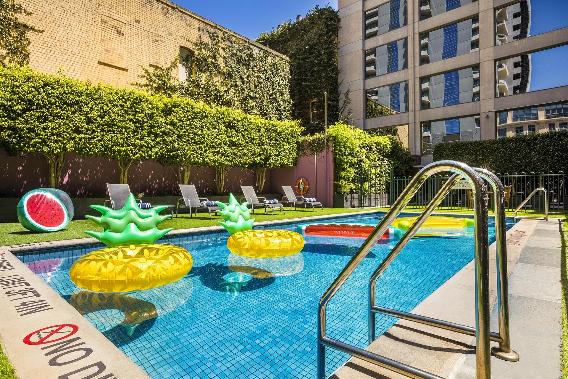 Summer Pool Party on the Rooftop Terrace