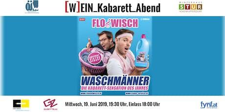 """ÖJW [W]EIN_Kabarett_Abend - Flo & Wisch """"Waschmänner"""" Tickets"""