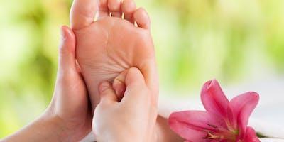 Ätherische Öle an den Fußreflexzonen
