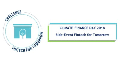 Fintech for Tomorrow - Climate Finance Day Side-Event