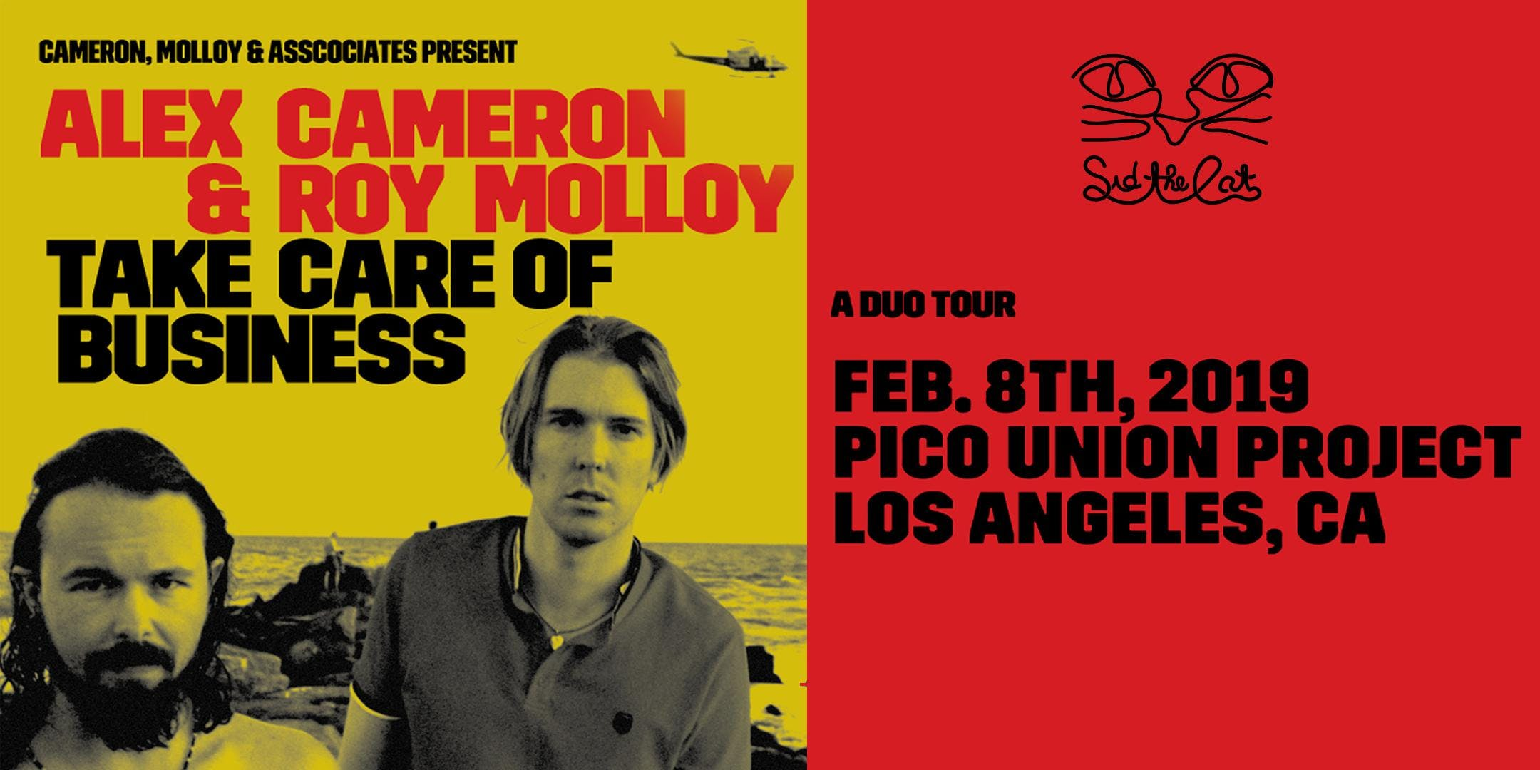 ALEX CAMERON & ROY MOLLOY: TAKE CARE OF BUSINESS A duo tour