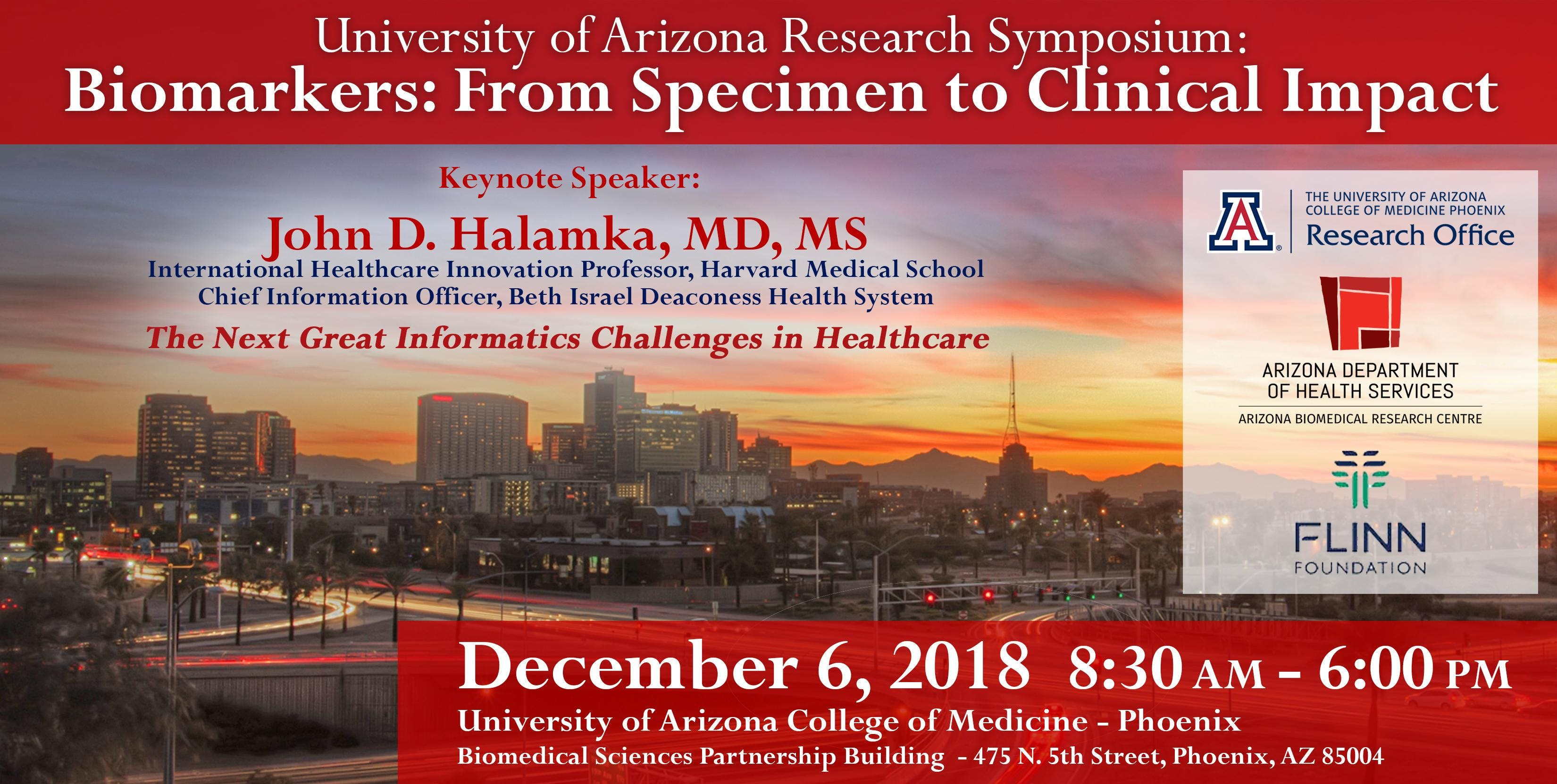 Biomarkers: From Specimen to Clinical Impact - University of Arizona Research Symposium