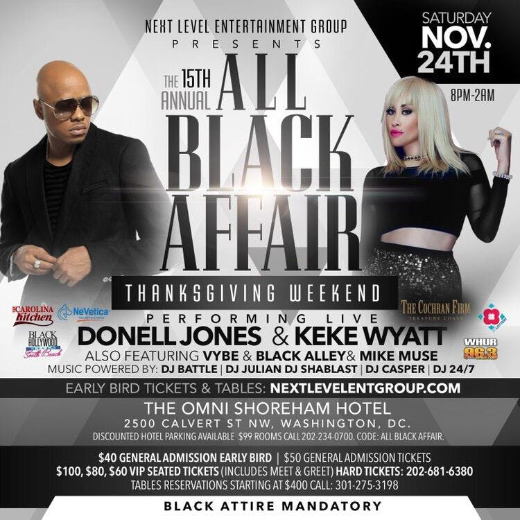 donell jones keke wyatt live the 15th annual all black affair