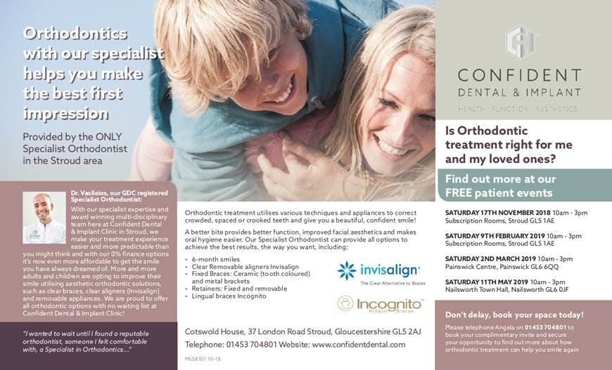Free Orthodontics Patient Information Event -