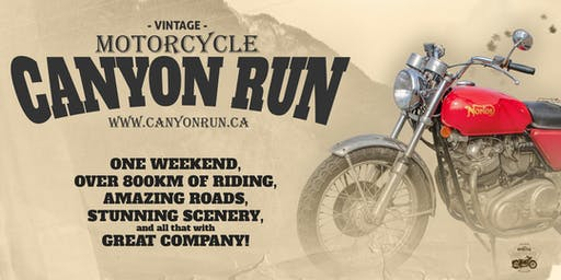 5th Vintage Motorcycle Canyon Run (June 29th - June 30th, 2019)