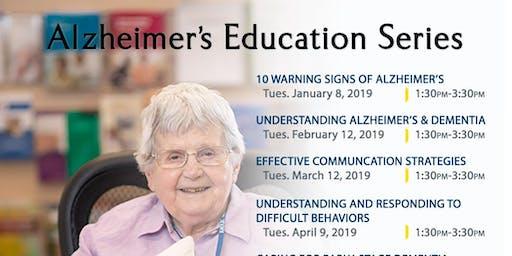 Late-Stage Alzheimer's for Caregivers, Alzheimer's Workshop, July 9, 2019, Kadlec Healthplex