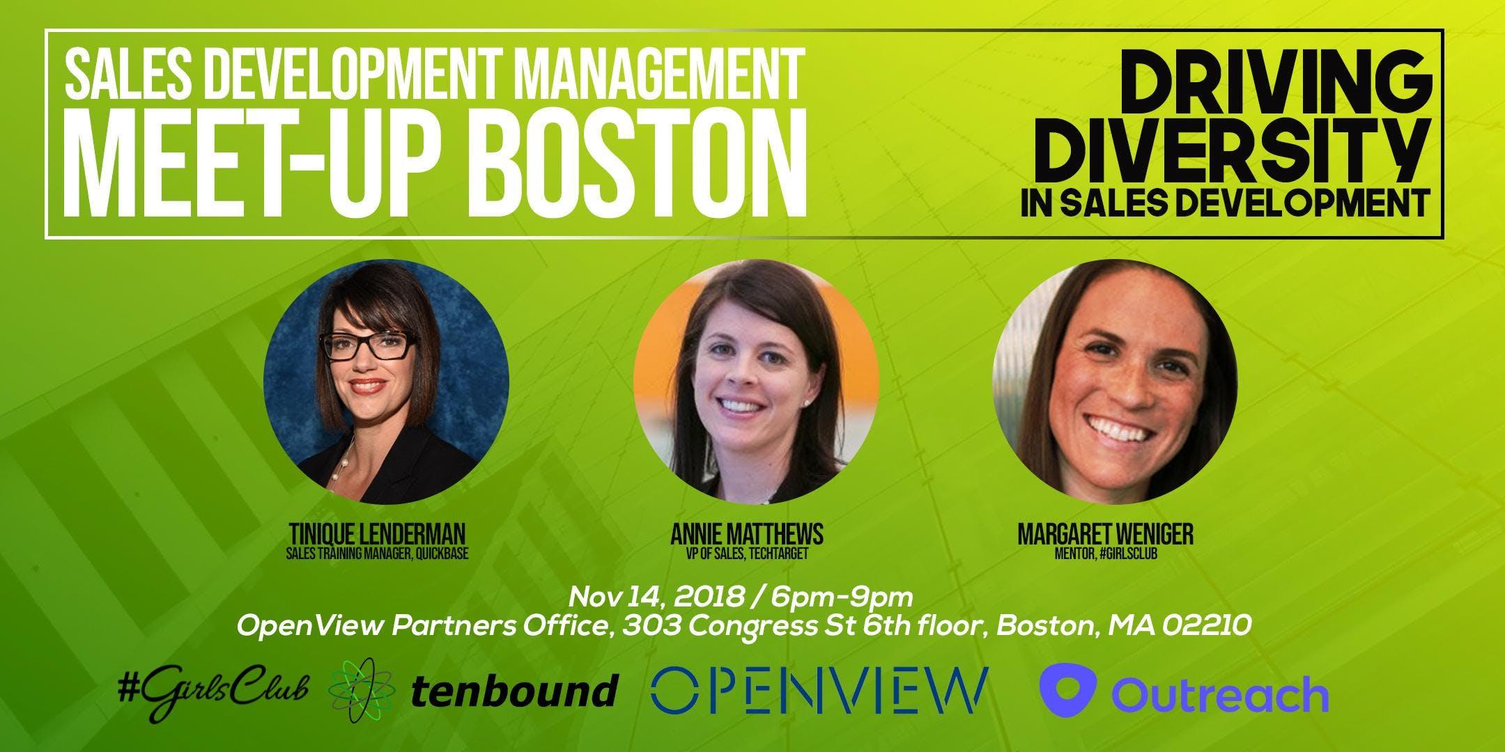 Sales Development Management Meetup  Driving Diversity in Sales Development