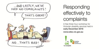Responding effectively to complaints – Geelong