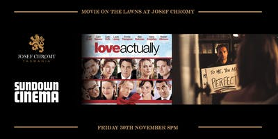 A movie on the lawns at Josef Chromy
