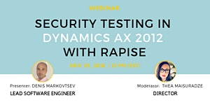 Webinar: Security Testing in Dynamics AX 2012 with...
