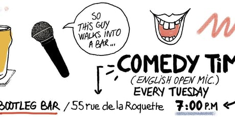 Comedy Time: English Open Mic - Bootleg Bar billets
