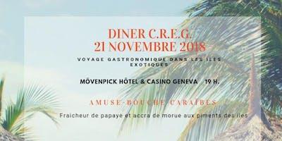Invitation à la 80ème réunion du C.R.E.G. Voyage gastronomique dans les îles exotiques.
