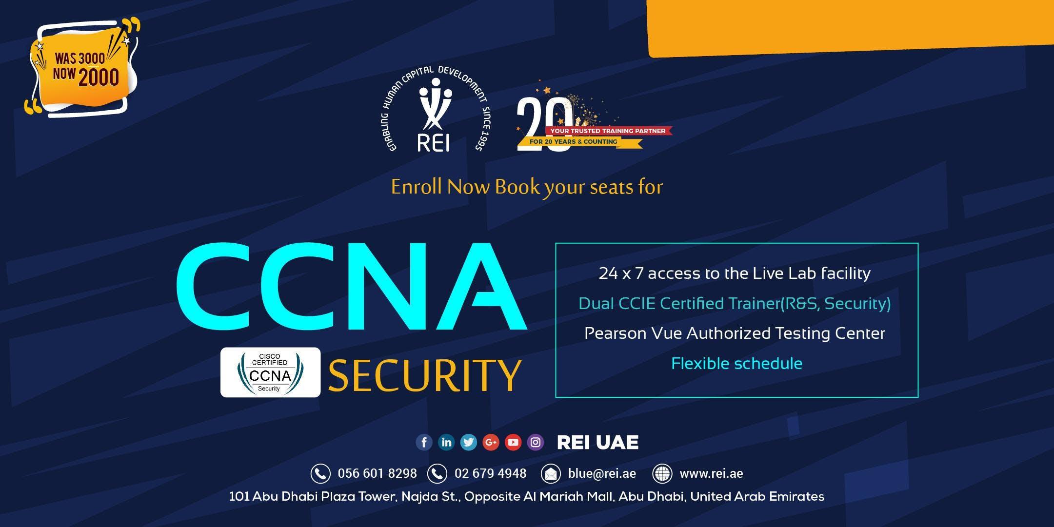 Ccna Security Certification Training In Rei Abu Dhabi 21 Nov 2018