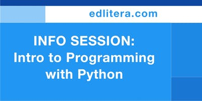 Intro to Programming with Python (Info Session)