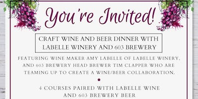 Craft Wine & Beer Dinner with 603 Brewery