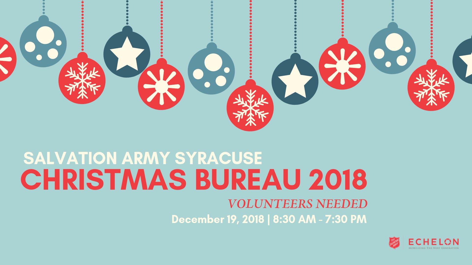 Salvation Army Christmas Bureau Distribution