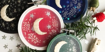 Moonshadow Hand Embroidered Ornament Workshop