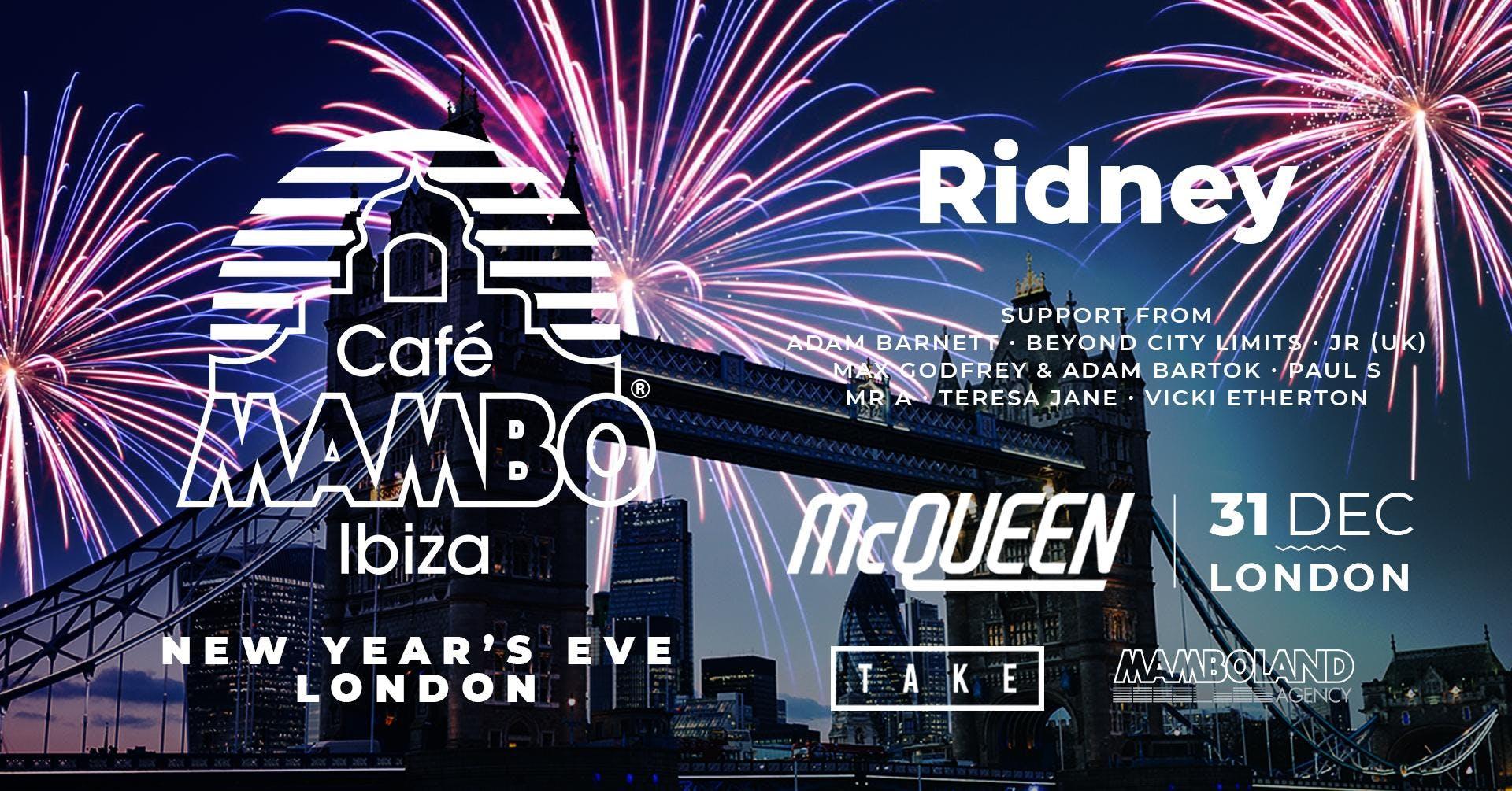 Cafe Mambo Ibiza New Year's Eve in London 2018/2019