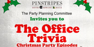 """The Office Trivia \""""The Holiday Party Episodes\"""" at Pinstripes Georgetown"""