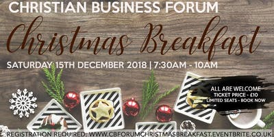 Christian Business Forum - Special Christmas Break
