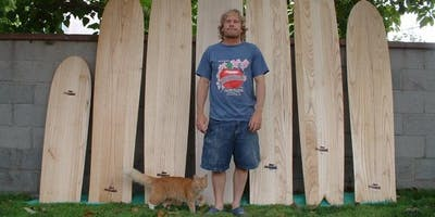 September 2-Day Finless Wooden Surfboard Building Workshop with Jon Wegener at Grain Surfboards in Maine