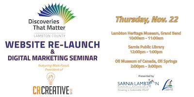 Discoveries That Matter Website Re-Launch & Modern Marketing Seminar