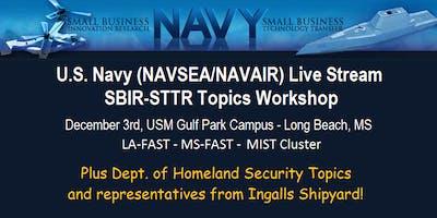Navy Live Stream SBIR/STTR 2019.1(a) Topics Workshop + Homeland Security