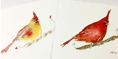 The Cardinals Watercolour Painting Workshop, Glen Abbey Library, Oakville