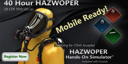 40-HOUR OSHA HAZWOPER 4 Day TRAINING