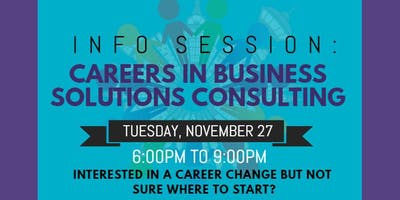 JCSO Info Session: Careers in Business Solutions Consulting